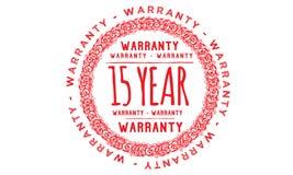 15 year warranty design,best black stamp. Illustration vector illustration