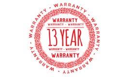 13 year warranty design,best black stamp. Illustration vector illustration