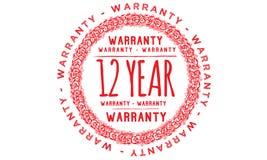 12 year warranty design,best black stamp. Illustration royalty free illustration