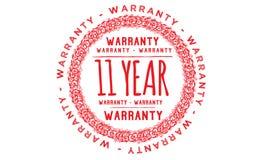 11 year warranty design,best black stamp. Illustration royalty free illustration