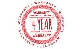 4 year warranty design,best black stamp. Illustration vector illustration