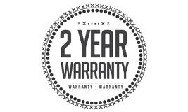 2 year warranty design,best black stamp. Illustration vector illustration