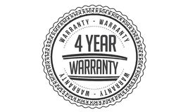 4 year warranty design,best black stamp. Illustration royalty free illustration