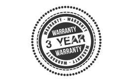 3 year warranty design,best black stamp. Illustration vector illustration
