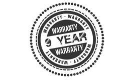 9 year warranty design,best black stamp. Illustration vector illustration