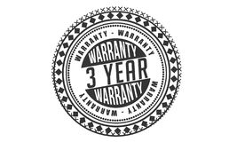 3 year warranty design,best black stamp. Illustration royalty free illustration