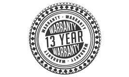 13 year warranty design classic,best black stamp. 13 year warranty design,best black stamp illustration royalty free illustration
