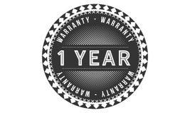 1 year warranty design classic,best black stamp. 1 year warranty design,best black stamp illustration stock illustration