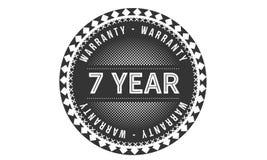 7 year warranty design classic,best black stamp. 7 year warranty design,best black stamp illustration stock illustration