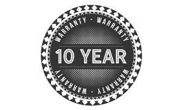 10 year warranty design classic,best black stamp. 10 year warranty design,best black stamp illustration royalty free illustration