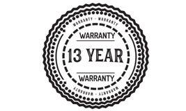 13 year warranty design classic,best black stamp. 13 year warranty design,best black stamp illustration stock illustration
