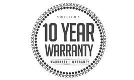 10 year warranty design,best black stamp. Illustration stock illustration