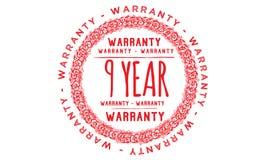 9 year warranty design,best black stamp. Illustration stock illustration