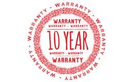 10 year warranty design,best black stamp. Illustration vector illustration