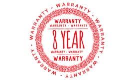 8 year warranty design,best black stamp. Illustration vector illustration