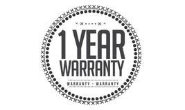 1 year warranty design,best black stamp. Illustration royalty free illustration
