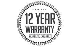 12 year warranty design,best black stamp. Illustration vector illustration