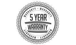 5 year warranty design,best black stamp. Illustration vector illustration