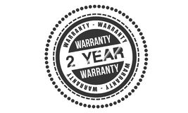 2 year warranty design,best black stamp. Illustration royalty free illustration