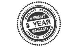 8 year warranty design,best black stamp. Illustration royalty free illustration