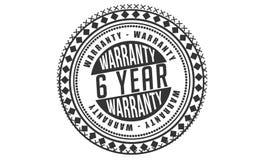 6 year warranty design,best black stamp. Illustration vector illustration