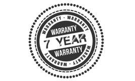 7 year warranty design,best black stamp. Illustration stock illustration