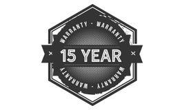 15 year warranty design,best black stamp. 15 year warranty design stamp badge icon royalty free illustration