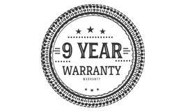 9 year warranty design classic,best black stamp. 9 year warranty design,best black stamp illustration vector illustration