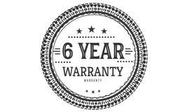 6 year warranty design classic,best black stamp. 6 year warranty design,best black stamp illustration stock illustration