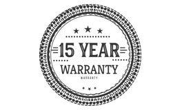 15 year warranty design classic,best black stamp. 15 year warranty design,best black stamp illustration royalty free illustration