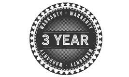 3 year warranty design classic,best black stamp. 3 year warranty design,best black stamp illustration stock illustration
