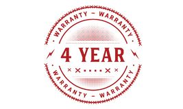 4 year warranty design classic,best black stamp. 4 year warranty design,best black stamp illustration vector illustration