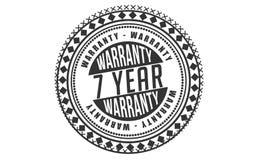7 year warranty design classic,best black stamp. 7 year warranty design,best black stamp illustration vector illustration
