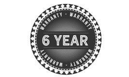 6 year warranty design classic,best black stamp. 6 year warranty design,best black stamp illustration vector illustration