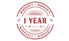 1 year warranty design classic,best black stamp. 1 year warranty design,best black stamp illustration vector illustration