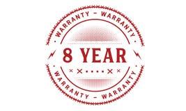 8 year warranty design classic,best black stamp. 8 year warranty design,best black stamp illustration stock illustration