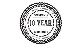 10 year warranty design classic,best black stamp. 10 year warranty design,best black stamp illustration vector illustration