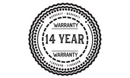 14 year warranty design classic,best black stamp. 14 year warranty design,best black stamp illustration vector illustration