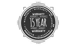 15 year warranty design stamp. Badge icon royalty free illustration