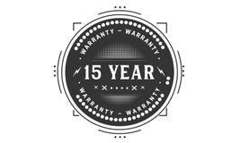 15 year warranty design,best black stamp. 15 year warranty design stamp badge icon stock illustration
