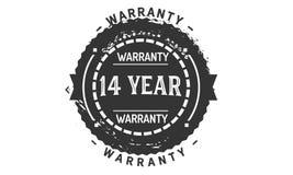 14 year warranty design,best black stamp. 14 year warranty design stamp badge icon royalty free illustration