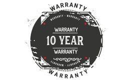 10 year warranty design,best black stamp. 10 year warranty design stamp badge icon royalty free illustration