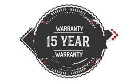 15 year warranty design,best black stamp. 15 year warranty design stamp badge icon vector illustration
