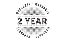 2 year warranty design stamp. Badge icon vector illustration