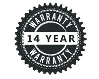 14 Year warranty design stamp. Badge icon vector illustration