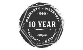 10 year warranty design stamp. Badge icon vector illustration
