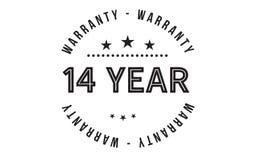 14 year warranty design stamp. Badge icon royalty free illustration