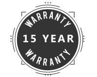 15 year warranty design stamp. Badge icon vector illustration