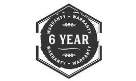 6 year warranty design stamp. Badge icon vector illustration