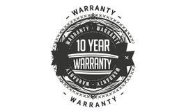 10 year warranty design stamp. Badge icon royalty free illustration